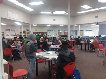 Student's taking advantage of tutoring on Thursday's!