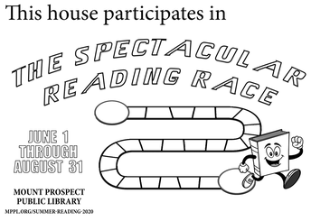 Reading Race Coloring Page