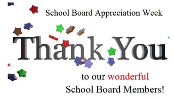 School Board Appreciation Week is October 21-25