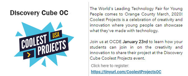 Discovery Cube Coolest Projects Information Meeting