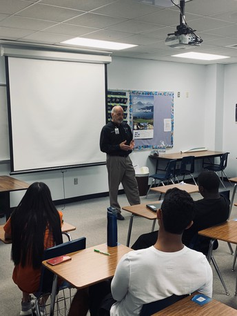 RRISD BOARD TRUSTEE SPEAKS TO STUDENTS