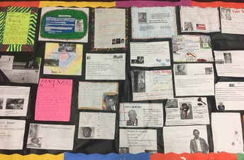 Black History School Wide Research Quilt