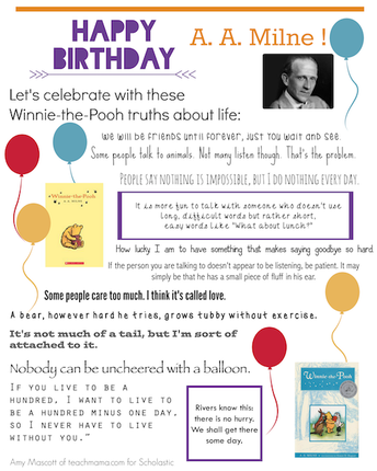 Winnie the Pooh Day - A. A. Milne's Birthday January 18