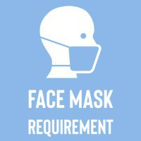 face mask required graphic