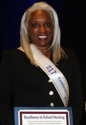 "2014 JJSHLP Alumni,  Barbara Parker, EdD, MPA, PHN received two Administrator Awards - JJSHLP ""Outstanding School Nurse Administrator"" Award and NASN ""School Nurse Administrator of the Year-California"" Award"
