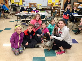 High School FFA Students Bring Agriculture to 2nd Grade Classrooms