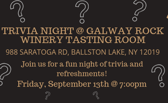 Trivia Night @ Galway Rock Winery Tasting Room