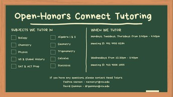 Open-Honors Connect Tutoring