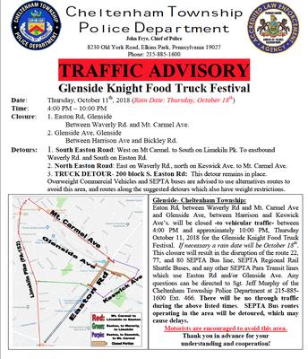 CTPD Traffic Advisory
