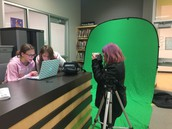 LMS students using the Maker Space in the library