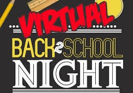 Back to School Night ~ VIRTUAL