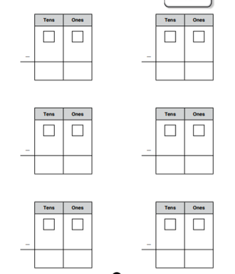 2-Digit Subtraction Template