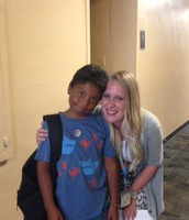 Ms. Baker with one of our scholars!