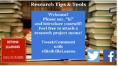 Last Tuesday Night: Awesome Twitter Chat about Research Teaching Strategies and Resources!
