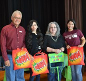 Vocabulary Parade Judges and Mrs. L. Hinojosa, Librarian