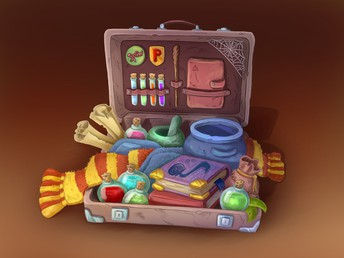 Packing the bags for Hogwarts