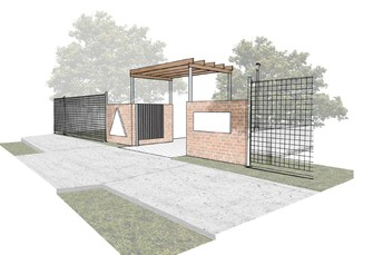 New Pedestrain Entry Gates