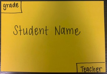 Student Pick-Up Sign to place on dashboard