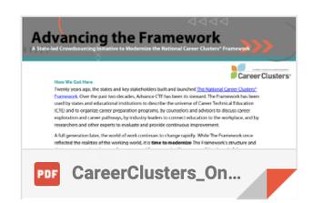 Advancing the Framework: