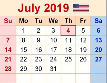 July Professional Learning  Calendar