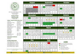 Revised 2020-2021 Academic Calendar