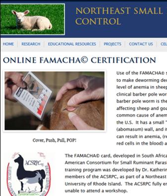 Update on Online FAMACHA© Training