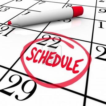 Coordinator Weekly Schedule