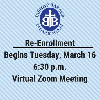 Re-Enrollment Zoom Meeting - Tuesday at 6:30 p.m.