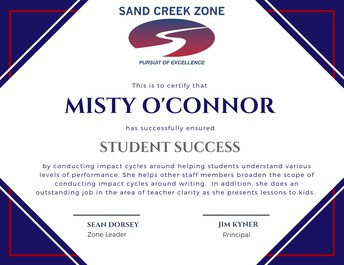 Misty O'Connor - Zone Pillar Recognition