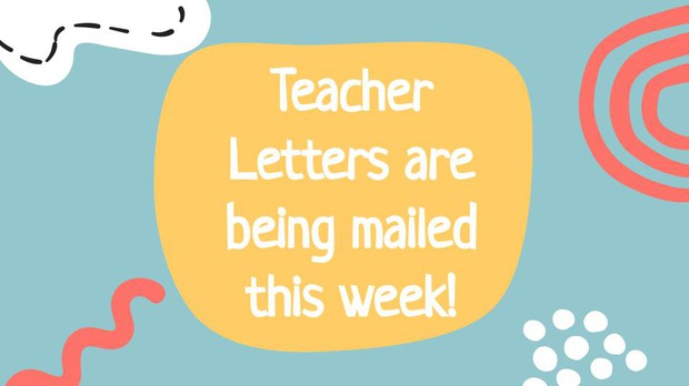 Letters are being mailed this week.