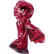Palm Springs Scarf - Red Ikat (55% off)