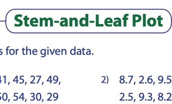 Stem and Leaf Plot Worksheet 1 (answers included)
