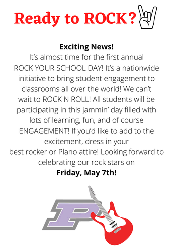 Rock Your School Day! May 7th