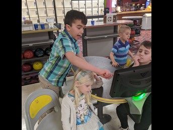 Bowling with our buddies was awesome!