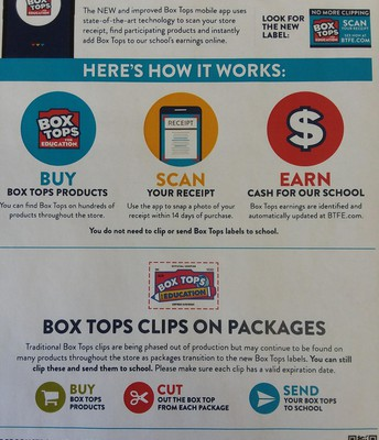 Don't forget to clip or scan Box Tops!