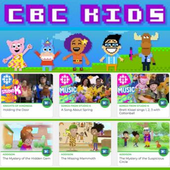 Canadian Broadcasting Company's CBC Kids screenshot