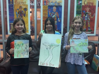 Red Ribbon Poster Contest Winners- 7th Grade