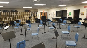 Band Room ready for rehearsal