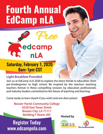 LAST CHANCE TO REGISTER FOR FREE EdCamp nLA