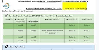 Distance Learning Survival Organizer