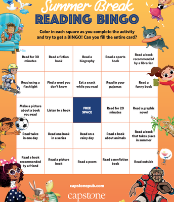 Capstone Summer Break Reading Bingo