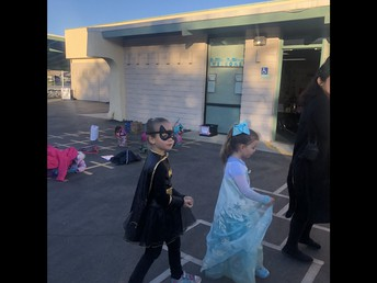Batgirl and Elsa from Frozen