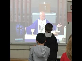4P attending Ash Wednesday mass.