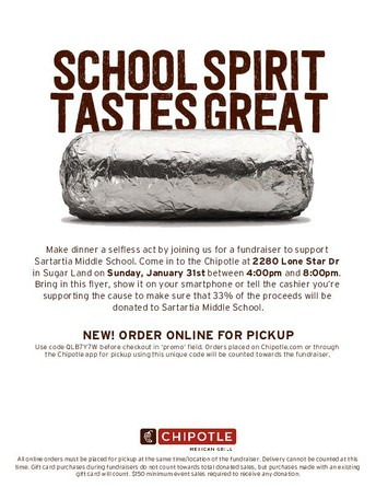 Save the Date: Chipotle Spirit Night