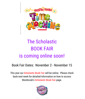 BOOK FAIR - COMING SOON!!!