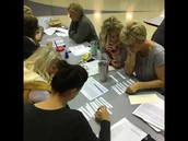 Teachers learning and growing at our recent staff meeting!