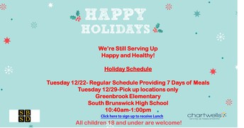 LUNCH INFORMATION - HOLIDAY SCHEDULE