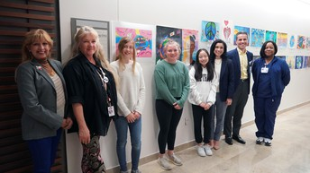Exhibit displays winning entries in Lake Travis Lions Club student poster contest