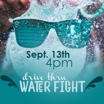 Drive thru Water Fight