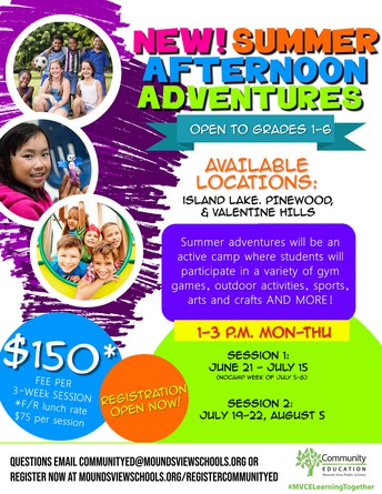 NEW! Summer Afternoon Adventures